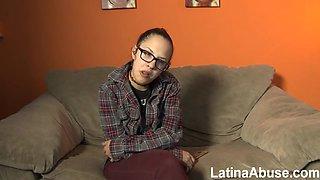 Naughty Latina Slut Brutal Gangbang