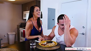 Fuckless stepmom Reagan Foxx can't resist the temptation to fuck hot boy Peter Green