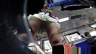 Spycam asian fingered bus