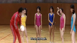 Female Gym Coach: Jump And Straddle