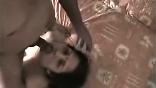 Indian aunty gets her pussy licked and pocked in missionary pose