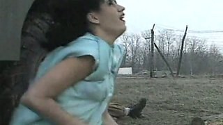 Duo of brutal soldiers rescued spoiled raven haired slut and she sucked them off as a reward