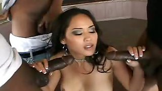 Hot Asian Girl Is Giving Money To 4 Black Men For Their Jizz