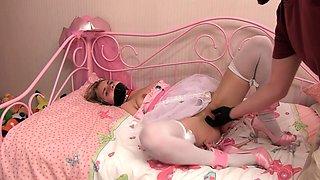 Horny stockings amateur blonde