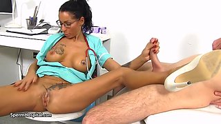 Brunette Mom Doctor And Her Male Patient - Hospital Sex - 18 Years Old