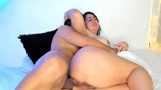 Big Ass Stepmom Gives her Son Anal His First Time