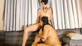 Indian hot aunty fucking with young boy with big boobs