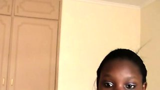 African cutie drilled with white dick