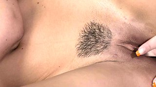 MOM Young girl shares 69 with her hairy older partner