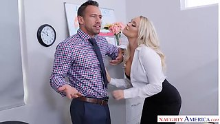 Alexis Monroe Has An Office Fling With Co-Worker - NaughtyOffice