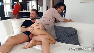 Two hot MILF sisters take turns fucking brunettes husband live at sexycamx