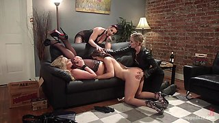 Abella Danger & Mona Wales & Mistress Kara & Phoenix Marie in Dyke Bar 3: Abella Danger Fisted, Dp'd And Dominated By Wild Lesbians - WhippedAss