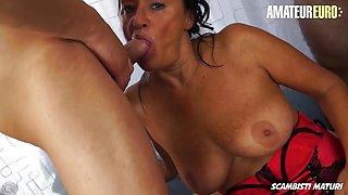 AMATEUR EURO - Sexy Granny Laura Rey Takes On 3 Guys